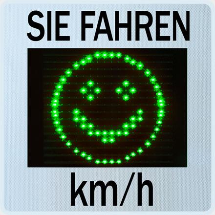 Geschwindigkeitsanzeige GR33L / CL mit Smiley 1231541
