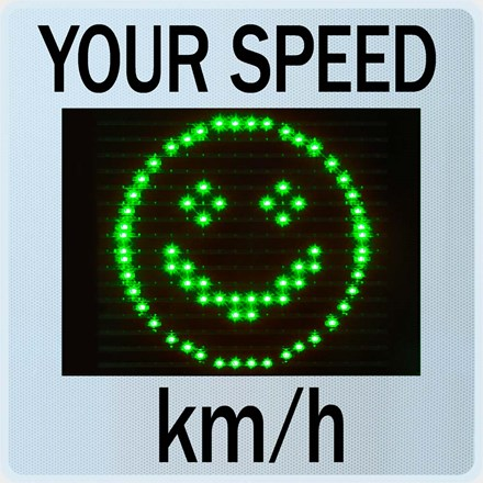 Speed Display GR33L / CL with Smiley 1231541