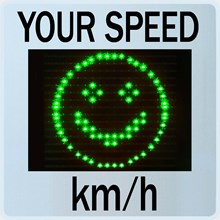 Speed Display GR33L / CL with Smiley