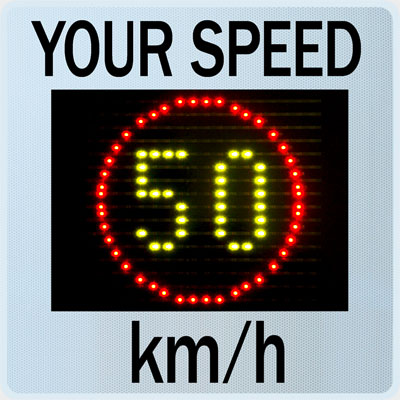 Speed Display GR33CL at a speed limit of 50 km/h