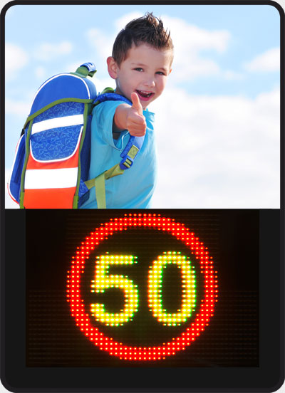 Speed Display with Smiley Speedpacer SP4568C