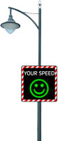 Speed Display SP4568CQ with street lighting accessories