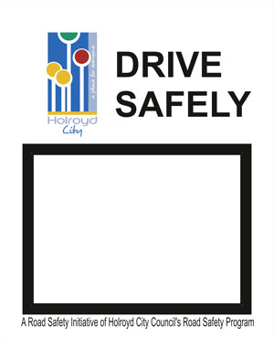 Custom front cover - drive safely with community logo
