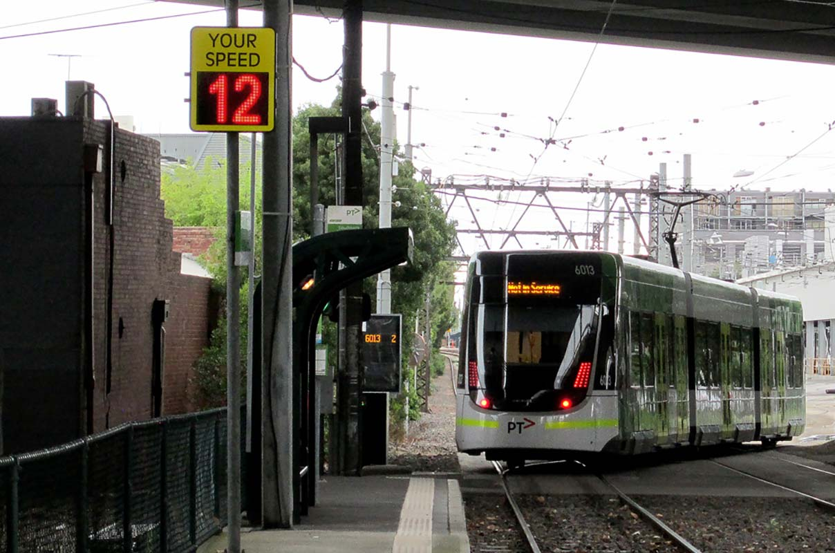 Sierzega Dynamic Speed Display Tramway in Melbourne