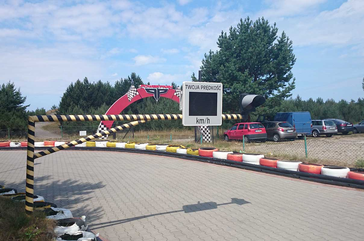 Sierzega GR33L Speed Information Display at Go-Kart Track in Poland