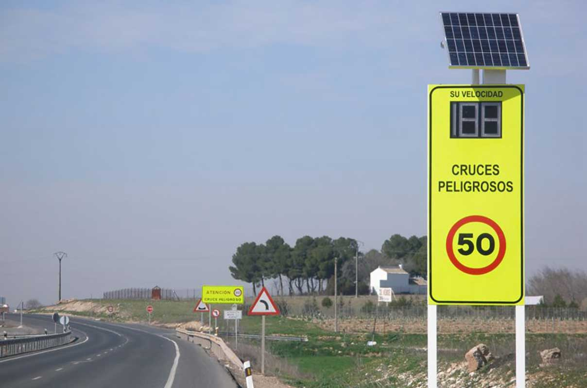 Sierzega GR32C Solar LED Speed Display Custom Product Highway Spain