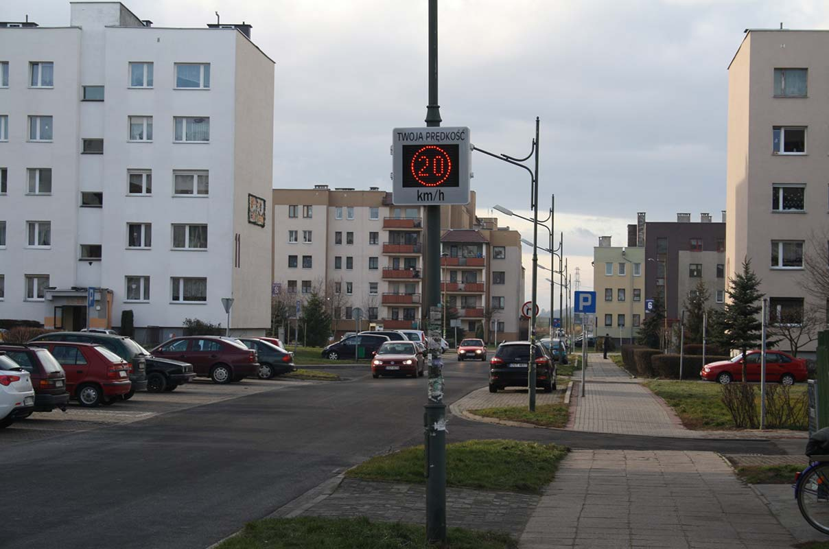 Sierzega GR33L LED Radar Speed Sign Residential Area Traffic Safety Poland
