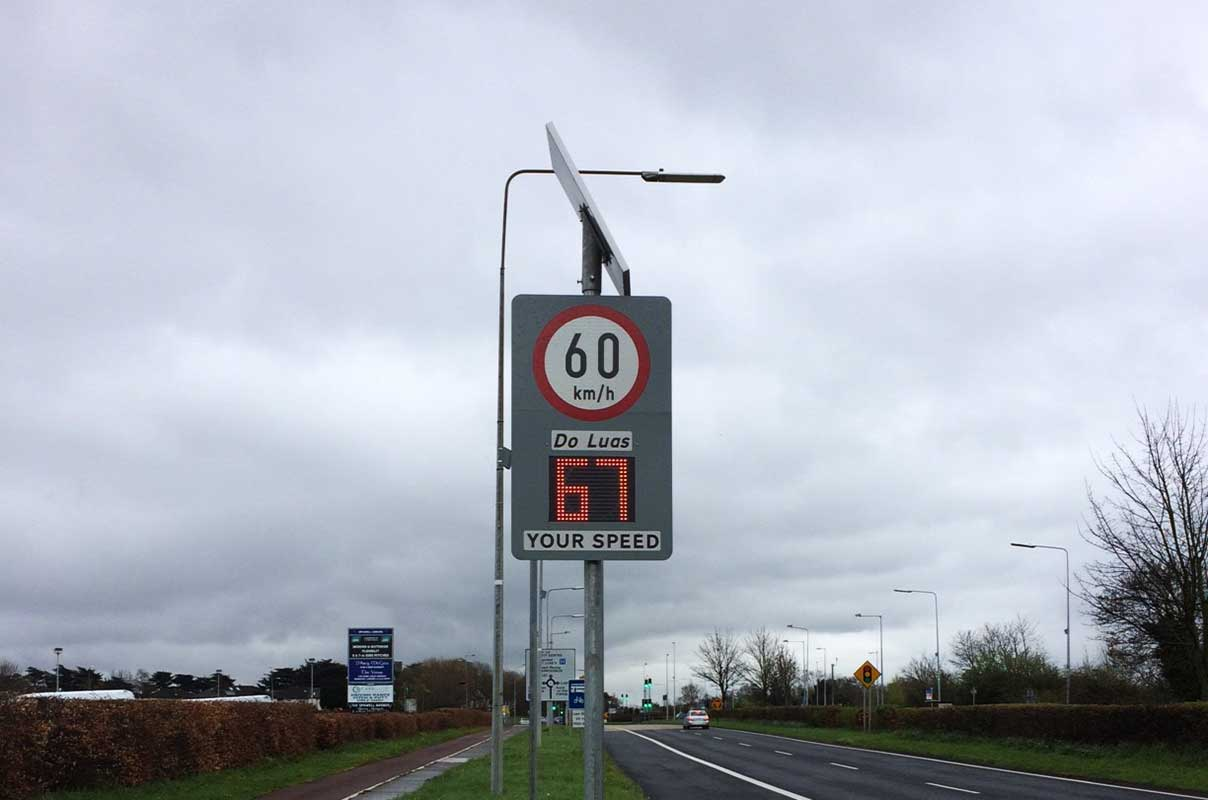 Sierzega Radar Speed Warning Sign Intersection Ireland